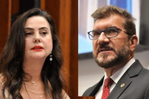 Imagem: Mara Caseiro é a líder do governo, enquanto que Pedro Kemp é o líder da oposição