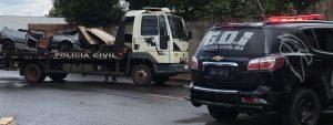 Polícia Civil prende suspeitos e apreende veículos em desmanche, em Campo Grande