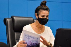 Imagem: A deputada fez o lançamento de campanha alusiva ao mês da Mulher