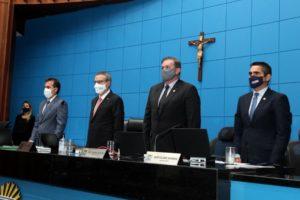 Imagem: Mesa Diretora da ALEMS levantou sessão plenária, rito previsto no Regimento Interno da Casa de Leis