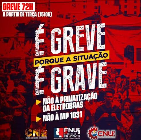 Trabalhadores da Eletrosul em Mato Grosso do Sul paralisam as atividades por 72 horas